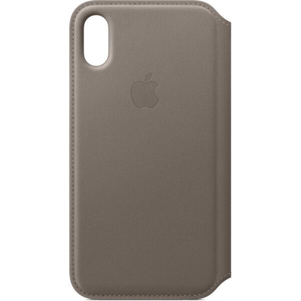 Apple iPhone X Leather Folio (Taupe)