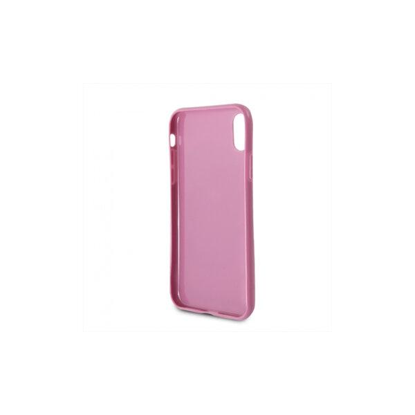 Розов кейс Karl Lagerfeld Karl and Choupette TPU Case Pink за iPhone X