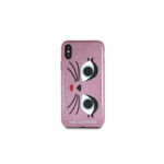 KLHCPXGLCHPI Karl Lagerfeld Karl and Choupette TPU Case Pink for iPhone X