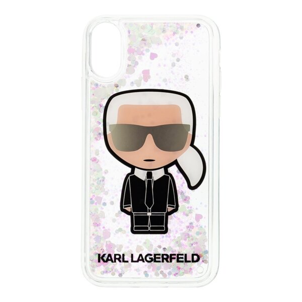 Кейс Karl Lagerfeld Iridescente Glitter Liquid Case pro за iPhone X/XS