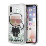 KLHCPXLGIRKL Karl Lagerfeld Iridescente Glitter Liquid Case pro iPhone X/XS
