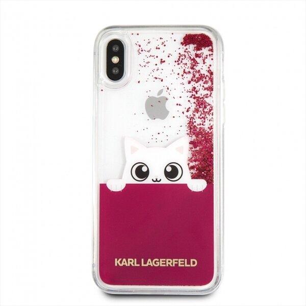 Кейс Original KARL LAGERFELD case за iPhone X Fuchsia
