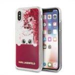 Original KARL LAGERFELD case for iPhone X Fuchsia