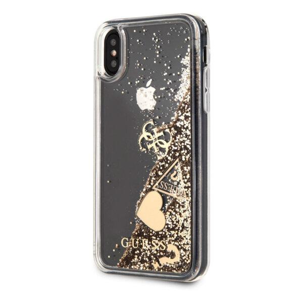 Златен кейс Guess hard case за iPhone X - Gold