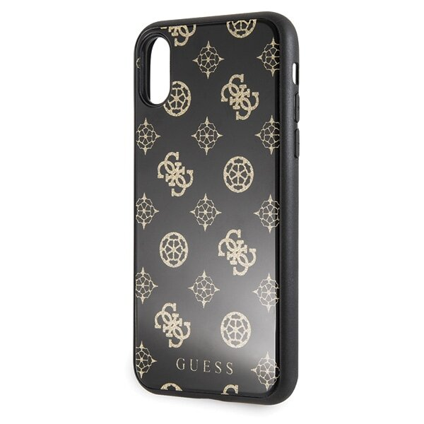GUHCPXTGGPBK Guess Layer Glitter Peony Case for iPhone X/XS Black