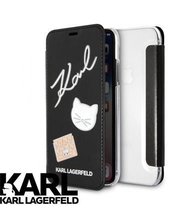 Черен Кейс Karl Lagerfeld Pins Book Black за iPhone X