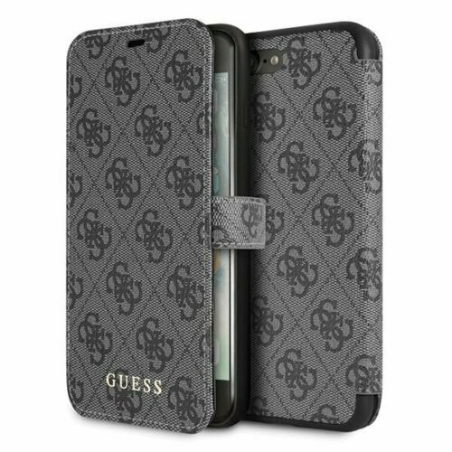 Сив Кейс Guess Charms Book Case 4G Grey за iPhone 7/8 Plus