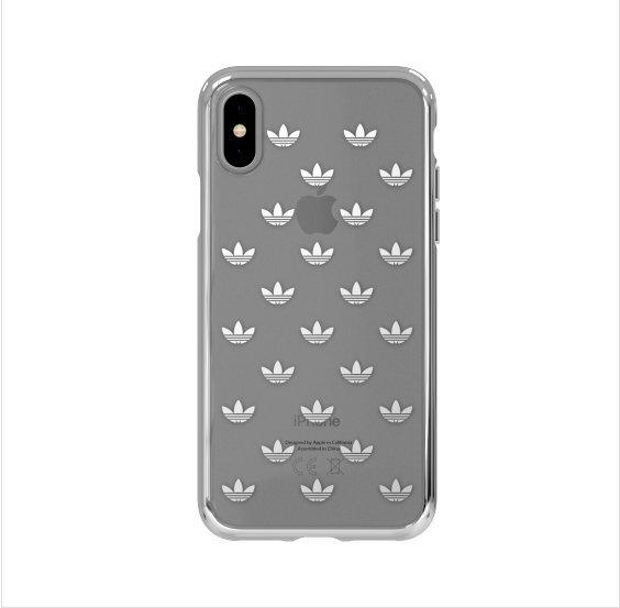 Adidas Originals Clear Case - силиконов (TPU) калъф за iPhone X (сребрист)