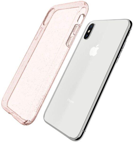 Розов кейс течен кристал Spigen Liquid Crystal Giltter за iPhone X/Xs