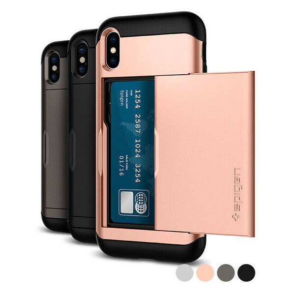 Златен кейс Spigen Case Slim Armor CS за iPhone X Blush Gold (EU Blister)