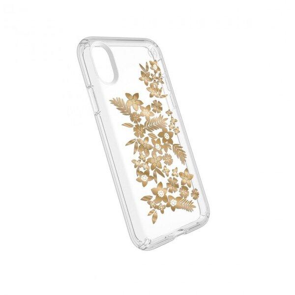 Металик/Златен/Жълт Кейс Speck за iPhone X Presidio Clear Print Metallic Gold Yellow