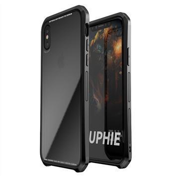 Черен кейс Luphie Double Dragon Alluminium Hard за iPhone X