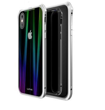 Сребърен/бял кейс Luphie Aurora Magnet Hard за iPhone X