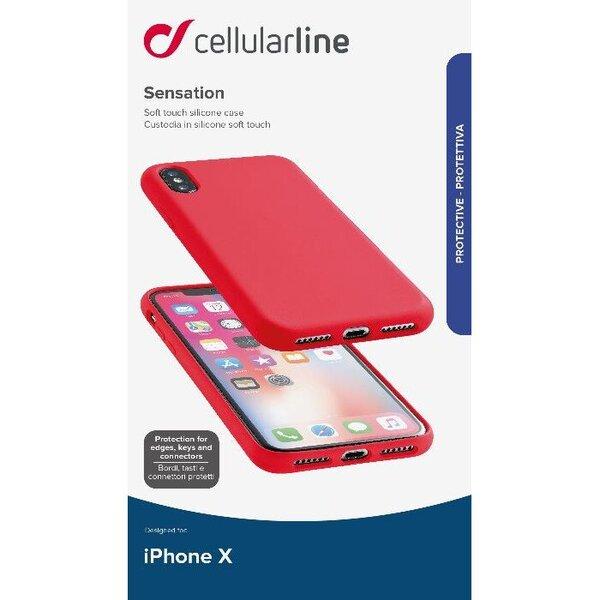 Кейс червен Sensation  за iPhone X/Xs