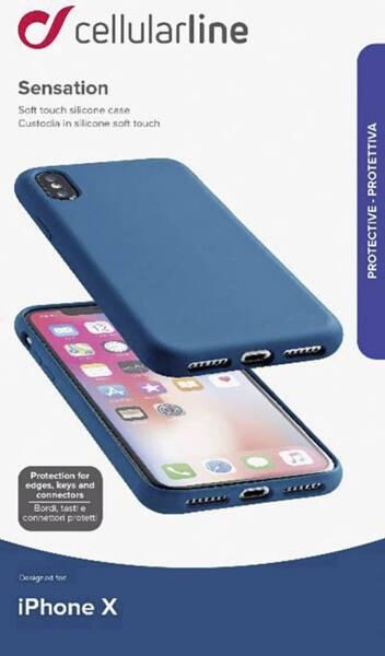 Син кейс Cellularline  iPhone case за Apple iPhone X,