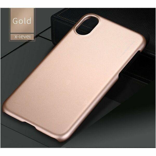 Златен кейс X-Level High Quality Super Ultra Slim Mate за iPhone X