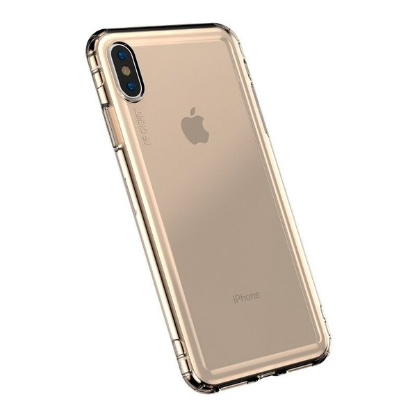 Златен кейс Ipaky Bumblebee Case за Iphone X gold (with shiny frame)