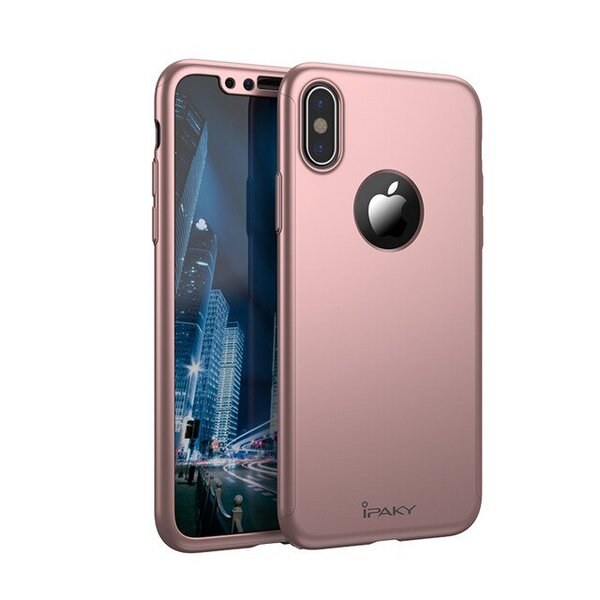 Кейс розово злато Ipaky 3 in 1 Case за iPhone X/XS