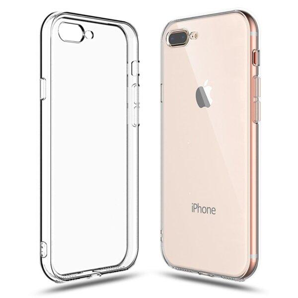 Fine прозрачен тънък гумен калъф за iPhone 7 Plus