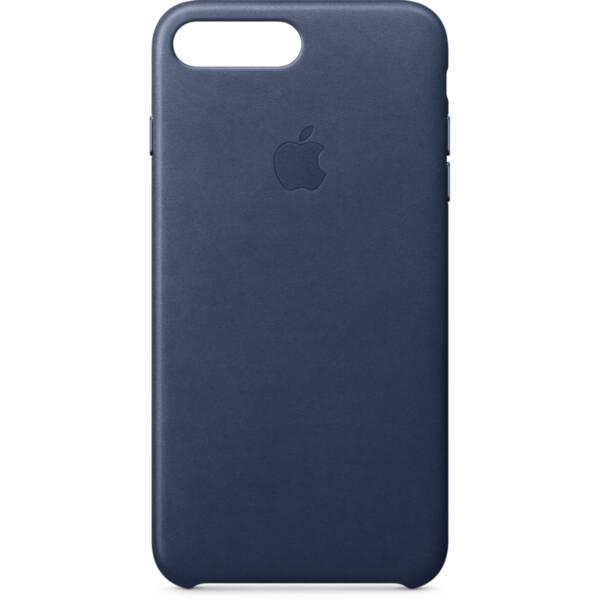 Син кожен кейс  на Apple за iPhone 8 Plus/7 Plus Leather Case (Midnight Blue)