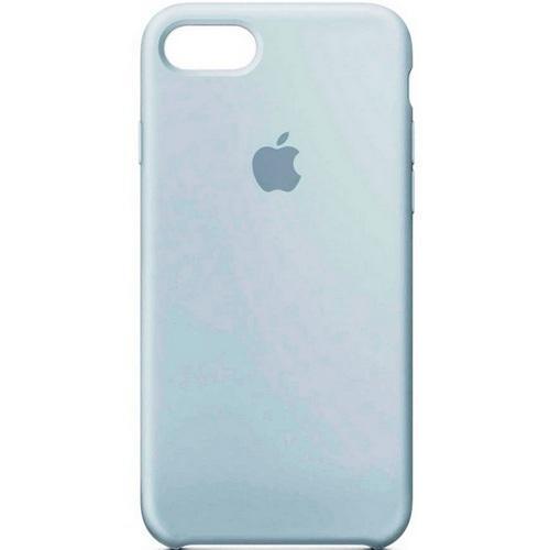 Син силиконов кейс на Apple за iPhone 7 Mist Blue
