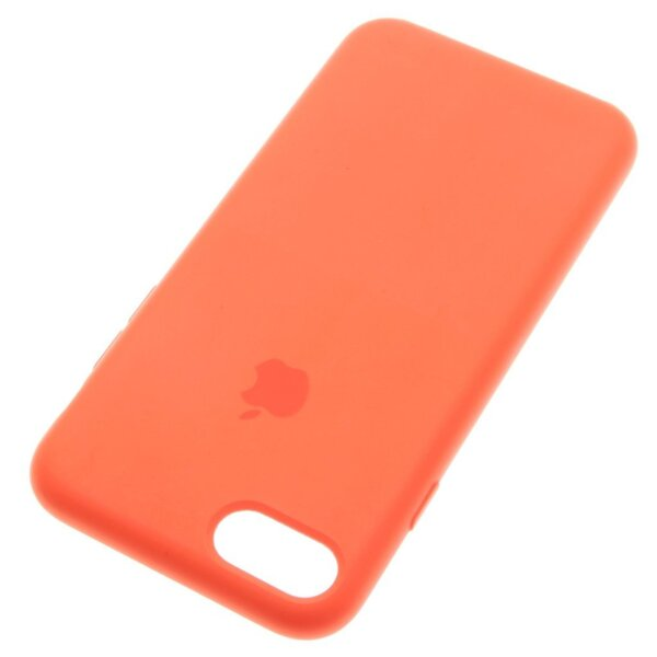 Силиконов кейс на Apple за iPhone 8, Spicy Orange