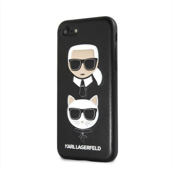CG Mobile Karl Lagerfeld KLHCI8CAOB Choupette All Over TPU Case Black for iPhone 7/8