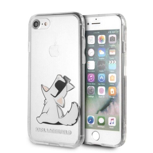 Твърд кейс на Karl Lagerfeld Fun Choupette No Rope за iPhone 8