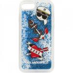 CG Mobile Karl Lagerfeld KLHCI8KSG  Hard Case Captain Karl Liquid Glitter Blue for iPhone 7/8