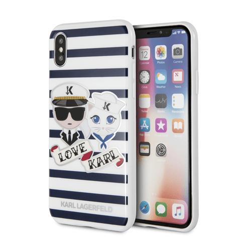 CG Mobile KLHCI8KSS Karl Lagerfeld Sailor Stripes TPU Case Black for iPhone 7/8
