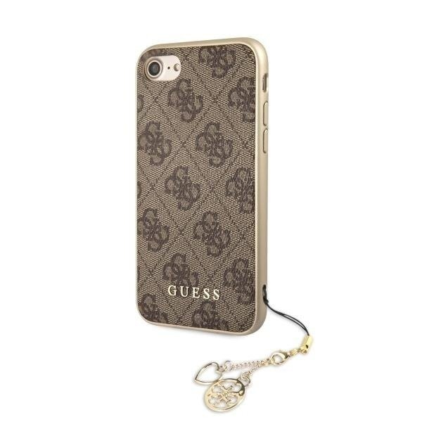 CG Mobile  GUESS - 4G Charms Collection Hard Case GUHCI8GF4GBR - Iphone 7 / 8 Brązowy