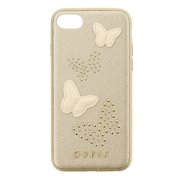 CG Mobile GUHCP7PBUBE Guess Studs and Sparkle Hard Case Beige for iPhone 7/8