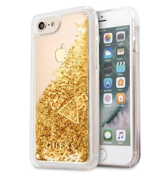 GUHCI8GLUFLGO Guess Liquid Glitter Hard Case Gold for iPhone 7/8
