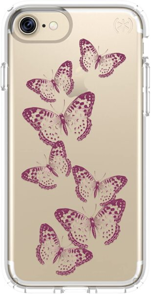 Speck Products Presidio Clear + Print Case iPhone 8/7 Butterflies