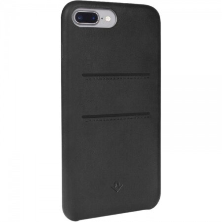 Relaxed Wallet Leather Clip - кожен (естествена кожа) кейс за iPhone 8 Plus, iPhone 7 Plus (черен)