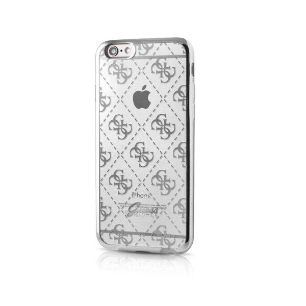 Guess 4G TPU Pouzdro Silver pro iPhone 5/5S/SE,
