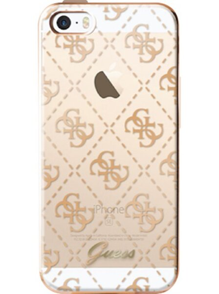 Guess 4G TPU Pouzdro Gold pro iPhone 5/5S/SE