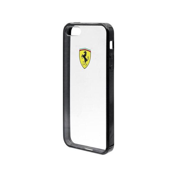 FEHCPSEBK Ferrari Racing TPU Case Transparent Black Iphone SE