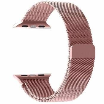 Tactical Loop Magnetic Stainless Steel Band for Apple Watch 4 44mm Rose Gold