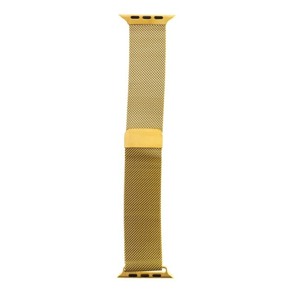Tactical Magnetic Stainless Steel Band for Apple Watch 4 44mm gold