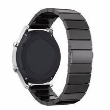 Tactical Buckle Magnetic Stainless Steel Band for Apple Watch 4 44mm Black