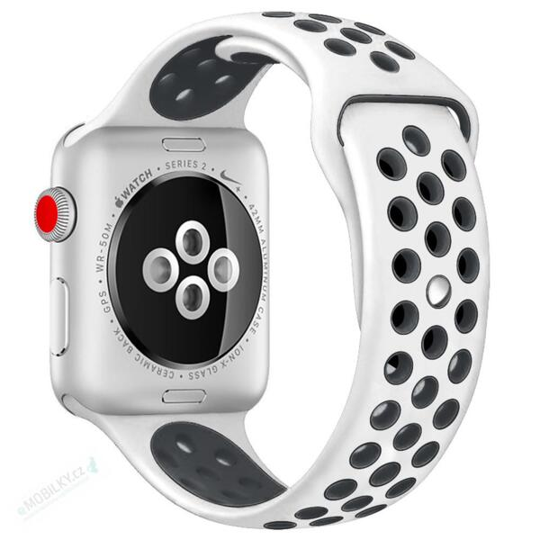 Handodo Double Silicone Band for iWatch 4 40mm White/Black (EU Blister)
