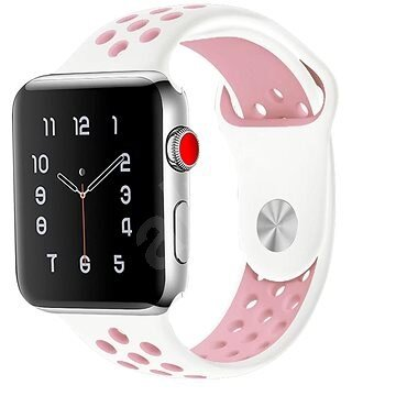 Handodo Double Silicone Band for iWatch 4 40mm White/Pink (EU Blister)
