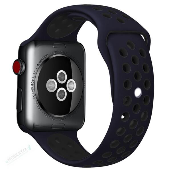 Handodo Double Silicone Band for iWatch 4 40mm Blue/Black (EU Blister)