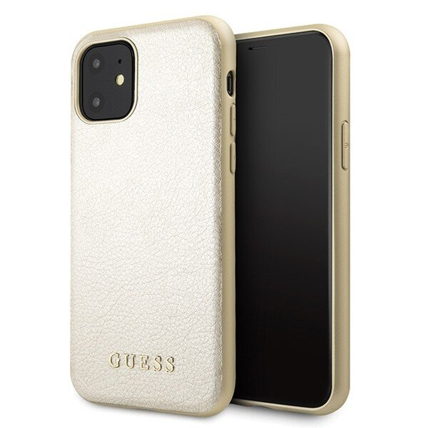 Guess Iridescent Cover for iPhone 11 Gold