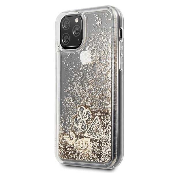 GUHCN58GLHFLGO Guess Glitter Hearts Cover for iPhone 11 Pro Gold (EU Blister)
