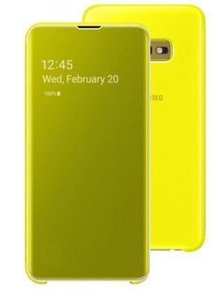 Калъф Clear View Cover от Samsung за Galaxy S10e - Yellow
