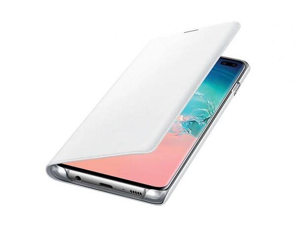 Кожен калъф LED View Cover от Samsung за Galaxy S10 - White