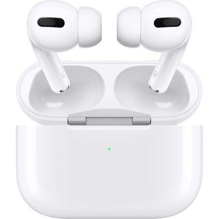 Apple AirPods Pro, Безжични Слушалки с Кутия за Безжично Зарежадане - White