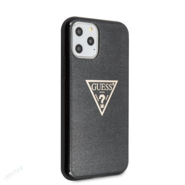 GUHCN58SGTLBK Guess Solid Glitter Cover for iPhone 11 Pro Black (EU Blister)